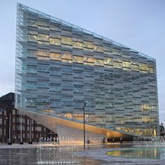 Love how this building hits the ground and the skin being so transparent. The Crystal II in Copenhagen, Denmark by Schmidt, Hammer and Lassen