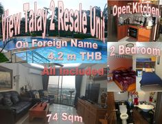 Pattaya View Talay 2b Bedroom 74 sqm Unit Resale: located on Thappraya Road,  popular condominium project, excessive parking, communal swimming pools, 24 hour gated entry, CCTV, Jomtien beach on short walk, unit in the second building on high floor, Jomtien view, renovated , 2 balconies, 3 air-conditioning, fully furnished, foreign name, tax included, selling 4,200,000.00 THB. Call 0800176100,: http://condoforsalethailand.net/pattaya-view-talay-2b-74-sqm-unit-resale/