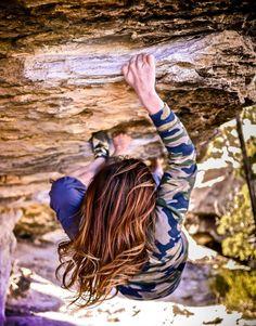 """waywardbelle: """" The bad - Triassic """" Photo of mine - taken of @waywardbelle bouldering in Triassic Utah."""