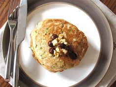 Zucchini Bread Pancakes (for One)