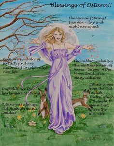 Spring Equinox:  Blessings of Ostara.