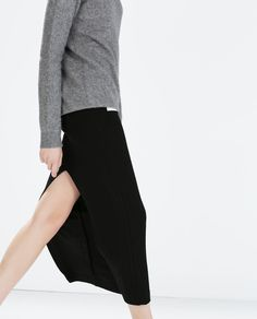 Image 3 of LONG SKIRT WITH SIDE SLIT from Zara