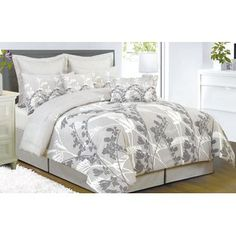 Master Bedroom? Duck River  Melanie Grays, & White Quilted Comforter Bedding #Sears
