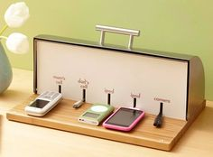 Bread box charging Station - need this for my bedroom!