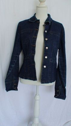 Adolfo Jean Jacket Women's Size M Measurements Provided #Adolfo #BasicJacket