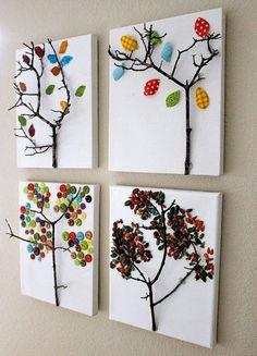 Pequenos Grandes Pensantes.: Dicas de Árvores com botões.