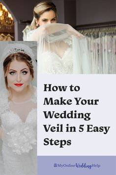 How to Make a Wedding Veil. This DIY bridal veil is made in five easy steps (espeically simple for people good at crafts): 1, create the pattern and cut the tulle. Step 2, DIY the blusher... see this and all steps in the step-by-step instructions on the MyOnlineWeddingHelp.com blog. Diy Wedding Veil, Diy Wedding Flowers, Wedding Crafts, Wedding Bride, Rustic Wedding Backdrops, Simple Wedding Decorations, Simple Weddings, Wedding Ideas Do It Yourself, Budget Wedding Inspiration