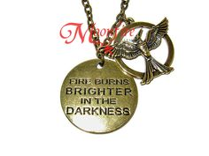 THE HUNGER GAMES: MOCKINGJAY PART 1 Fire Burns Brighter in the Darkness Mockingjay Necklace