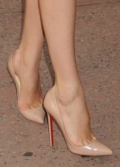 Love those nude Louboutin