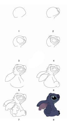 Draw Stitch step by step by GrayAliEN