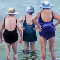 Carol Carmichael - looks like my grandma an her 2 sisters Art Plage, Sister Love, Friends Forever, Old Women, Painting & Drawing, Illustration Art, My Arts, Artsy, Fine Art