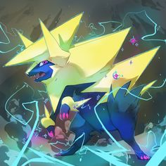 Shiny Mega Manectric by PinkGermy.deviantart.com on @deviantART