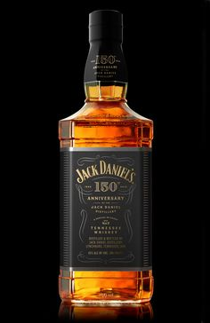 Packaging design for 150 years of the Jack Daniel Distillery commemorative whiskey