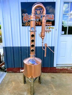 4 or 6 plate with Gin Basket / Heat Beer Brewing, Home Brewing, Distilling Equipment, Copper Still, Distillery, Wind Chimes, Gin, Basket, Plates