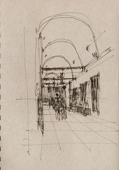 Urban Sketchers New York City: Midblock Connectors and Bridge