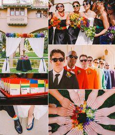 Contemporary Retro Brights V's Vintage Pastel Rainbow Wedding Ideas
