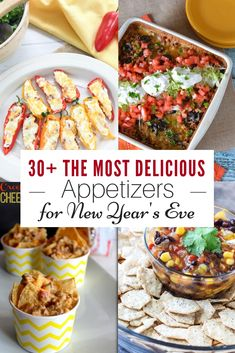 Throwing a New Year's Eve party or just need a few fresh ideas, I have you covered. Check out these New Year's Eve appetizers! Throwing a New Year's Eve party or just need a few fresh ideas, I have you covered. Check out these New Year's Eve appetizers! New Years Eve Snacks, New Year's Snacks, New Years Eve Menu, New Years Eve Dessert, New Year's Eve Appetizers, New Years Eve Dinner, Yummy Appetizers, Appetizer Recipes, Appetizer Ideas