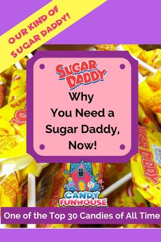 Picture this, Summer, the roaring twenties. You can almost hear the jazz music blaring through the radio and there was a cool new candy in town called.the Sugar Daddy. (read more. Candy Pictures, Pop S, Vintage Candy, Best Candy, Roaring Twenties, Jazz Music, Caramel, Daddy, Sugar