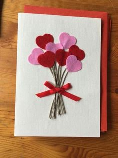 Ideas For Baby Shower Gifts Homemade Valentines Day Homemade Birthday Cards, Homemade Valentines, Homemade Cards, Valentine Crafts For Kids, Mothers Day Crafts, Cute Cards, Diy Cards, Tarjetas Diy, Birthday Cards For Boyfriend