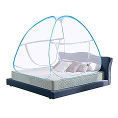 Product review for Pop Up Mosquito Net Bed Canopy Foldable Double Door with Bottom Anti Mosquito Bites for Baby Bed Camping Travel Home Outdoor Use Blue.  - Specification: Light and compact The top can be hung with small fan With bottom design, make the net more stable,and prevent your baby from falling from The height is about 1.5 meters, the space is full, it is very comfortable for you and your children to play or sleep in bed Material: 100%....  Continue reading at  htt