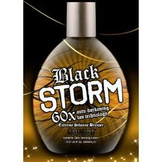 WOOOW Usually I will go in a stand up twice a week and that keeps me pretty bronzed, but when I tried black storm, it got me even darker, and it feels great on my skin. and for this price, you can't beat it. I payed 75 at the salon, and I bought 2 bottles on here for the same price. A+ product $13.58