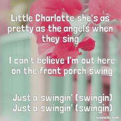 Just a swinging lyric
