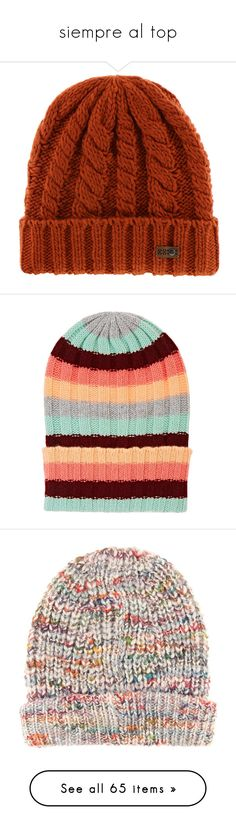 """siempre al top"" by dairarosario on Polyvore featuring accessories, hats, maroon, maroon beanie, adidas originals hat, adidas originals, maroon hat, adidas originals beanie, orange y roxy hats"