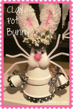 clay pot bunny