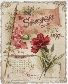 The Shakespeare Calendar for 1897 (Tuck DB Ephemera)