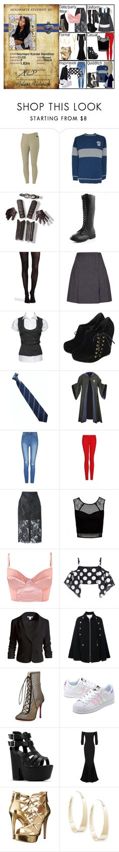 """""""Normani Kordei in Ravenclaw (HP)"""" by elmoakepoke ❤ liked on Polyvore featuring BLVD Supply, SPANX, Hobbs, MANGO, MSGM, Forever New, Forever 21, Kalmanovich, Sans Souci and See by Chloé"""