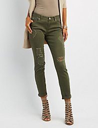 Cello Destroyed Skinny Jeans   Charlotte Russe