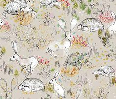 Desert Dwellers - © Lucinda Wei fabric by lucindawei on Spoonflower - custom fabric