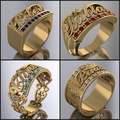 WWW.HACEMOSTUSJOYAS.COM Mens Gold Bracelets, Mens Gold Rings, Mens Gold Jewelry, Rings For Men, Men's Jewelry Rings, Jewelry Design Earrings, Gold Jewellery Design, Gold Finger Rings, Gold Ring Designs
