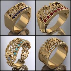 WWW.HACEMOSTUSJOYAS.COM Men's Jewelry Rings, Jewelry Design Earrings, Gold Earrings Designs, Gold Jewellery Design, Mens Gold Bracelets, Mens Gold Jewelry, Mens Gold Signet Rings, Gold Finger Rings, Gold Ring Designs