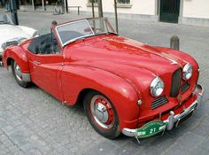 Retro automobile - Jowett Jupiter Roadster a? 1952 a? Vintage Sports Cars, Classic Sports Cars, Retro Cars, Vintage Cars, Classic Cars, Peugeot, Dream Cars, Convertible, Good Looking Cars