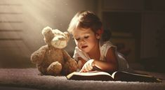 Child little girl reading a magic book in dark home. Child little girl reading a , Girl Reading, Children Reading, Cute Kids, Cute Babies, Baby Kids, Book Photography, Children Photography, Little Girl Photography, Best Educational Toys