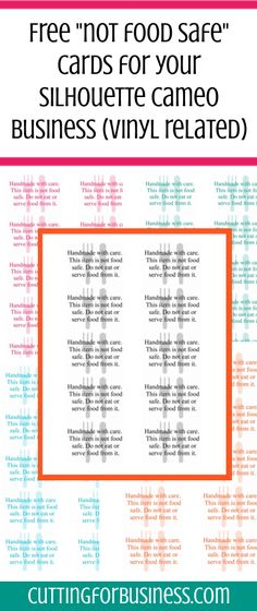 Free, printable care cards (not food safe, HTV washing instructions, and not…