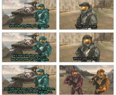 Red VS Blue. I love how Grif said Simmons was him!