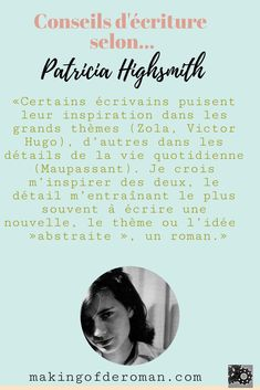 Roman, Patricia Highsmith, Les Themes, Blog, Movies, Movie Posters, Writing Tips, Films, Film Poster