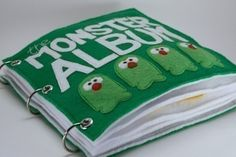 The Monster Album Quiet Book Pattern Busy Book Pattern The Zoo, Timmy Time, Monster Book Of Monsters, Funny Monsters, Quiet Book Patterns, Felt Quiet Books, Travel Toys, Busy Book, Embroidery For Beginners