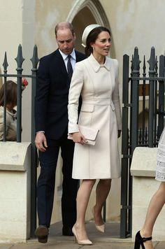 La duchesse de Cambridge, née Kate Middleton, et le prince William à Windsor, le 16 avril 2017. - Jason Dawson / Nunn Syndication / News Pictures
