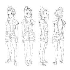 Her: Model Sheet Sketch | Stardust by moxie2D on DeviantArt