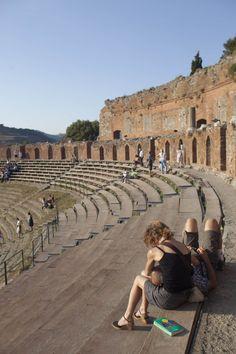 El anfiteatro grecorromano de Taormina.