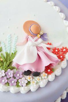 Cupcakes Decoration Flowers Fondant Decorating Ideas 70 Ideas For 2019 Fondant Toppers, Fondant Cakes, Cupcake Cakes, Fondant Figures, Cake Decorating Techniques, Cake Decorating Tips, Cute Cakes, Fancy Cakes, Decors Pate A Sucre