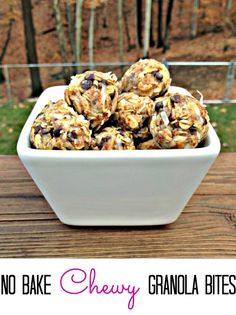 No Bake Healthy Chewy Coconut Chocolate Chip Energy Bites!  Perfect for a grab & go breakfast or snack.  Great lunchbox treat. (Coconut Butter Energy Balls)