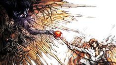 Anime 2560x1440 Death Note Light Yagami Ryuk The Creation of Adam parodies