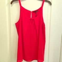 Flowy summer top Loose, double lined tank top. Never been worn with tags still attached. Bought from Norstom Rack this past summer. Color is described as Red Orange. Ro&De Tops Tank Tops