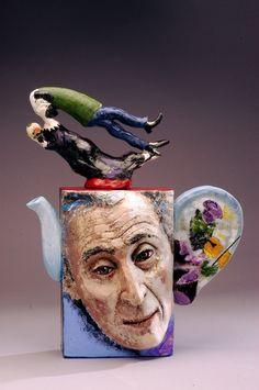 Chagall Ceramic Teapot (Contemporary Ceramics, Earthen Ware)