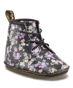 Loving this Black Floral Auburn Leather Booties on #zulily! #zulilyfinds