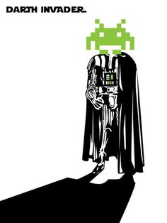 Darth Vader + Space Invaders = Darth Invader #awesome